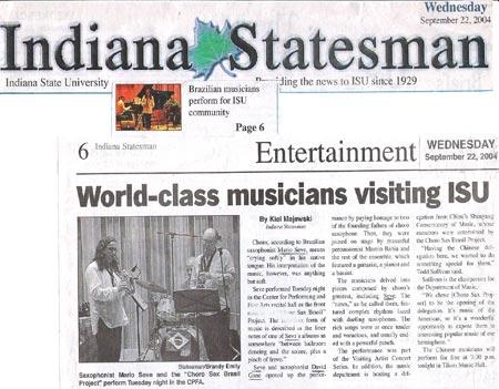 World class musicians visiting ISU