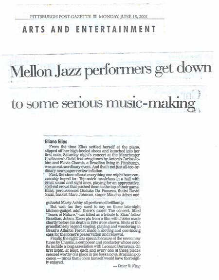 Mellon Jazz performers get down to some serious music-making
